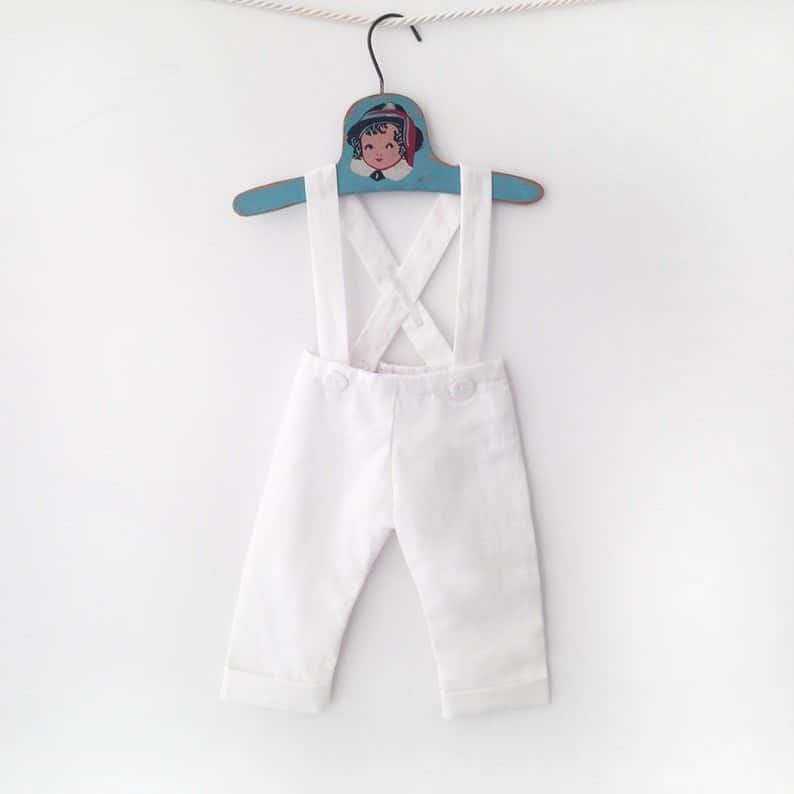 Baptism Toddler Boy outfit Linen Suit