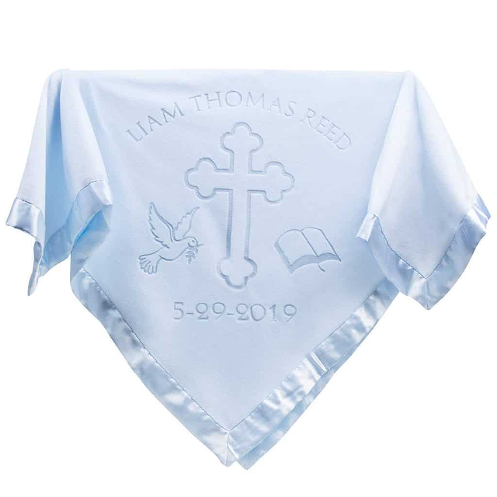 Christening Personalized Baby Blanket
