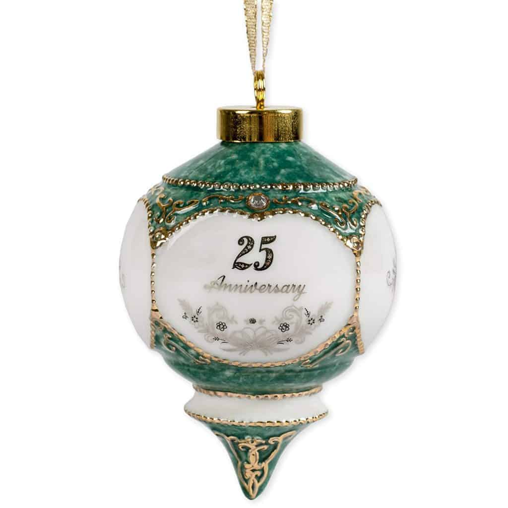 Happy 25th Wedding Anniversary Hanging Ornament