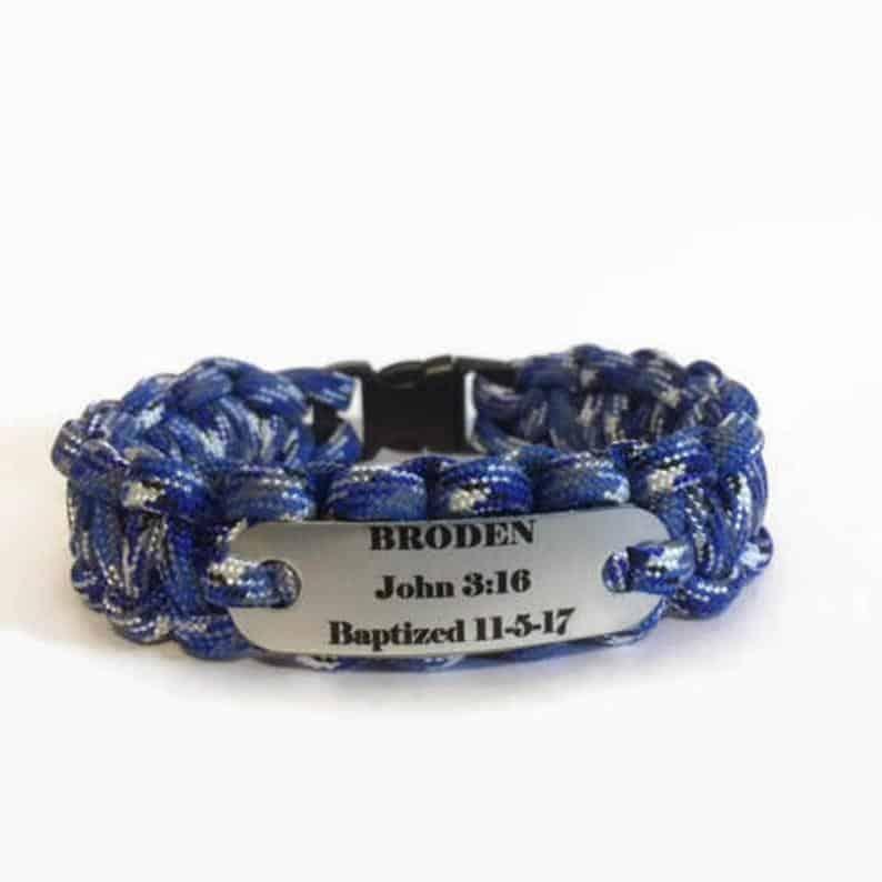 Personalized Paracord Bracelet