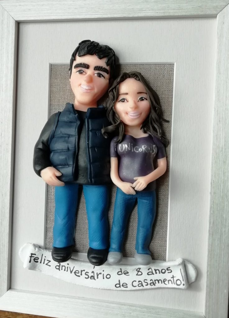 Custom Couple Portrait Selfie Dolls