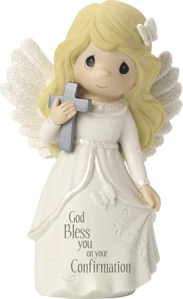 Angel Bisque Porcelain Figurine a confirmation gift for girls