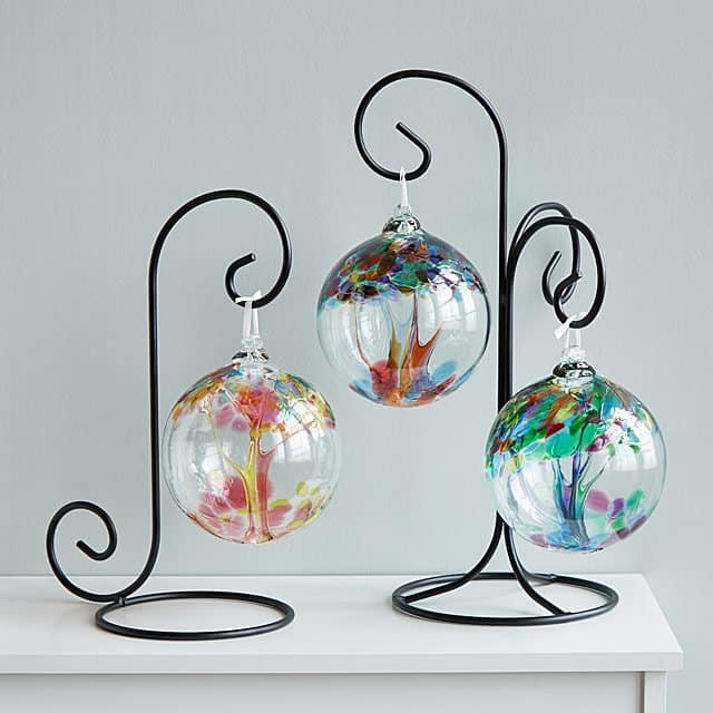 Glass Tree Globes – Relationships one of a perfect birthday gifts