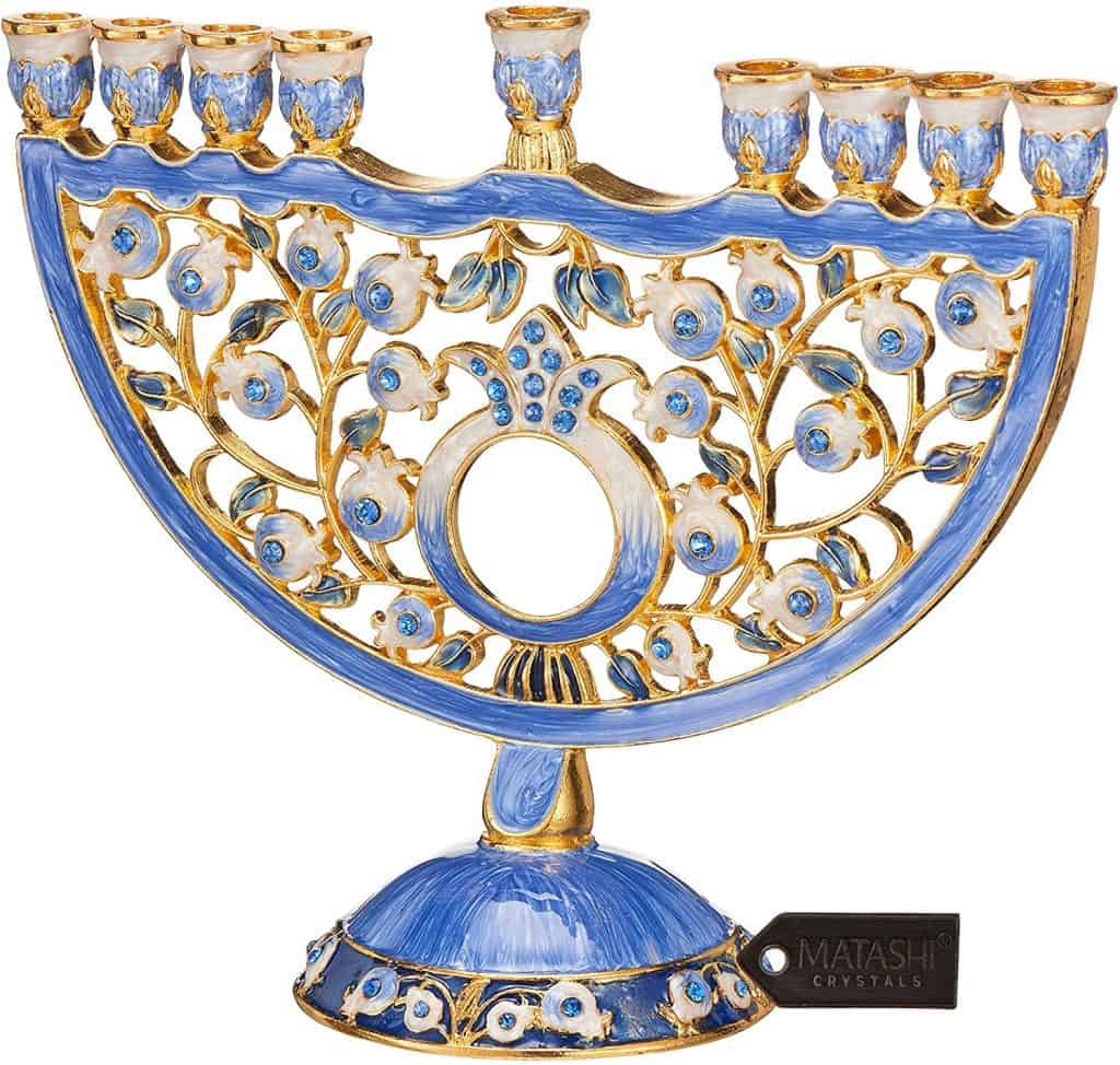 Crystals Jewish Candle Holder
