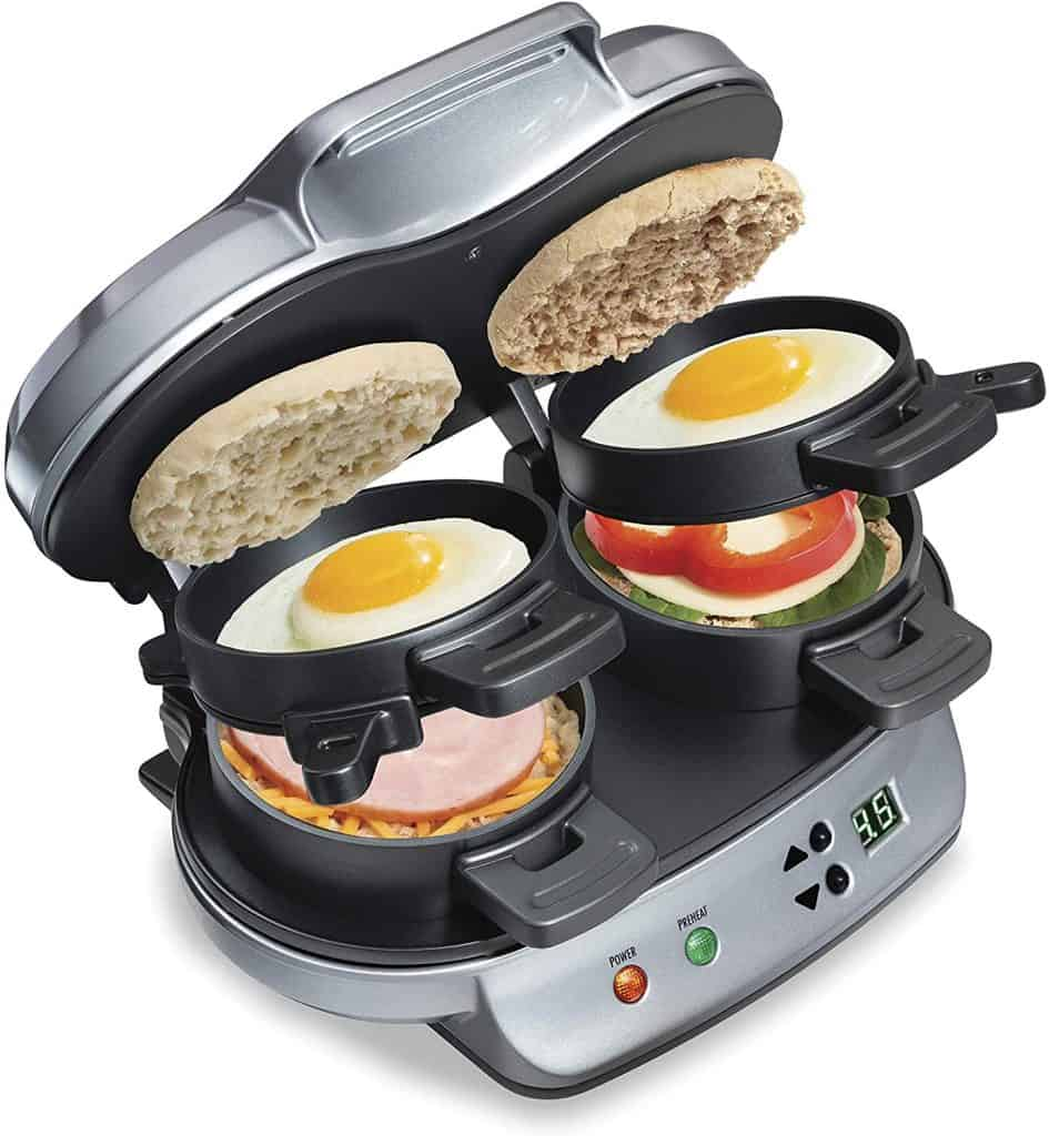 Dual Breakfast Sandwich Maker a best housewarming gifts